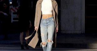 Bí quyết mặc đẹp hơn với quần jeans cạp cao cho bạn