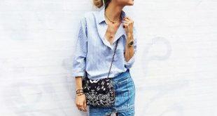 Họa tiết sọc xanh trắng cuốn hút cho thời trang công sở