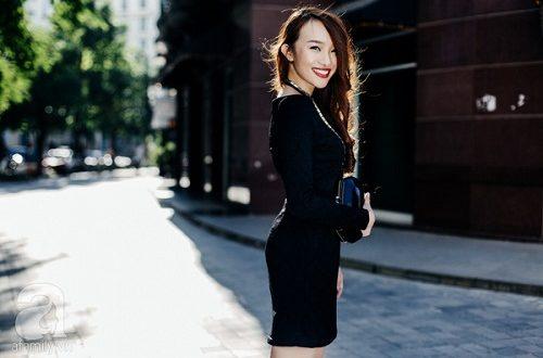 Những phong cách thời trang hoàn hảo với gam màu đen cho nàng